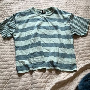 Urban Outfitters Tops - Green-Striped T-Shirt from Urban Outfitters